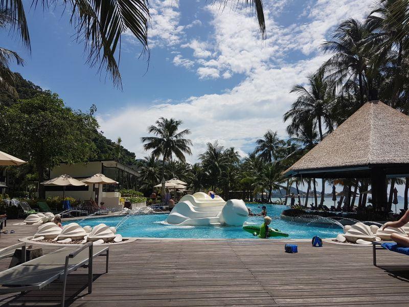 KC Grande Resort lagoon pool White Sand