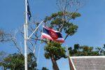 Old Thai flag flying