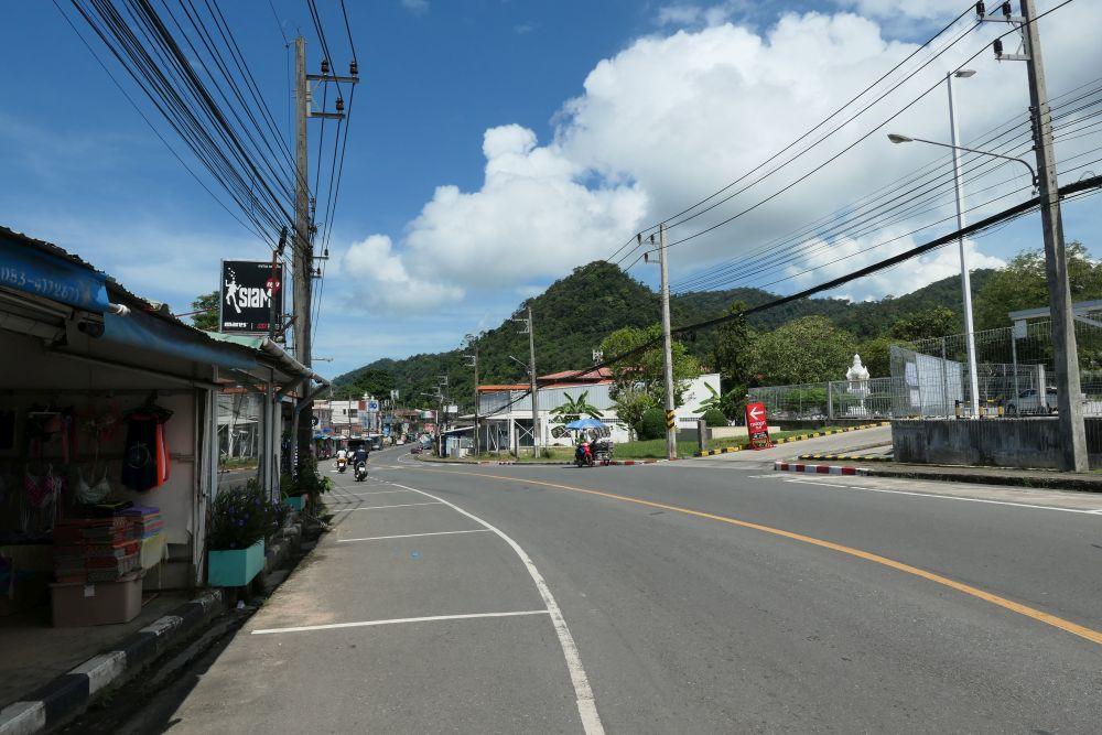 Roadside away from the beach