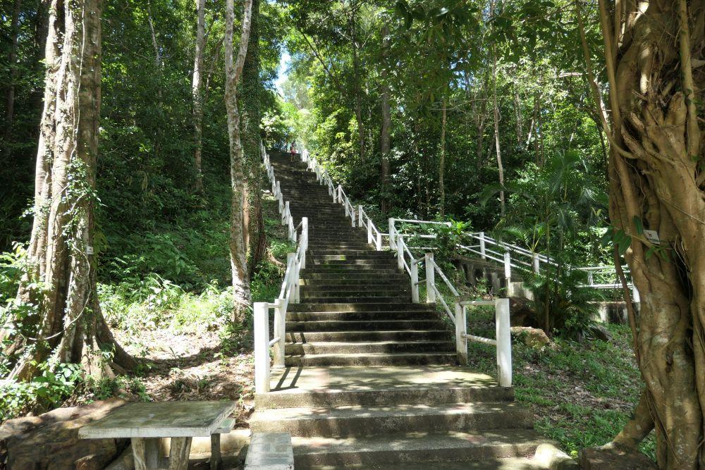 Steps to the navy shrine