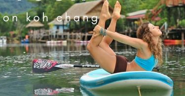 Practice yoga on Koh Chang on land or paddle board