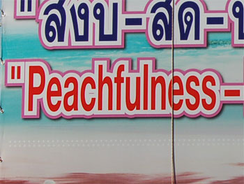 Peachfulness . . . It Has a Ring To It