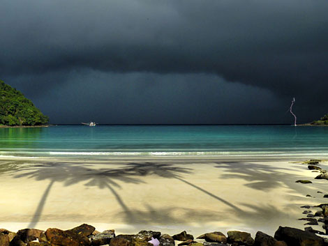 Rainy season at Koh Kood Resort