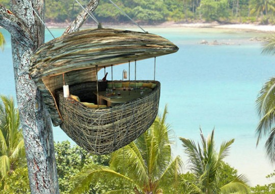 dining pod at soneva kiri