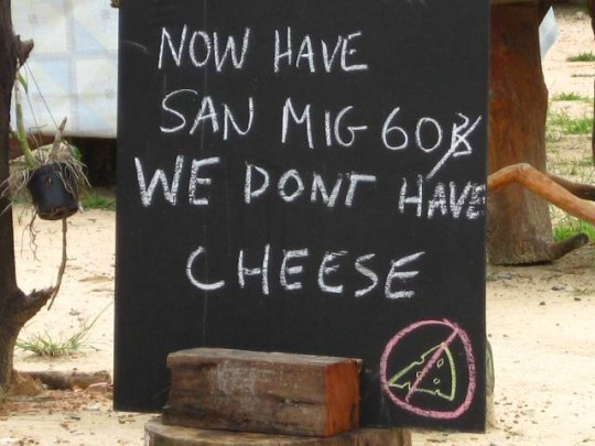 cheese shortage on koh chang