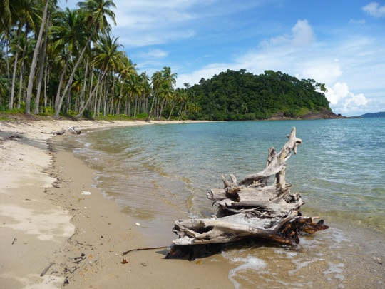 beautiful deserted beach on koh chang