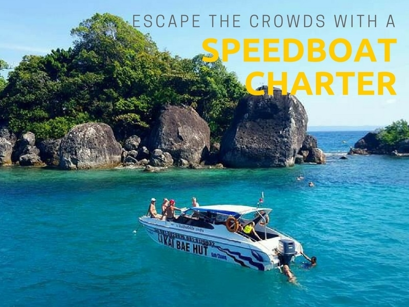 A chartered speedboat to an island near Koh Chang