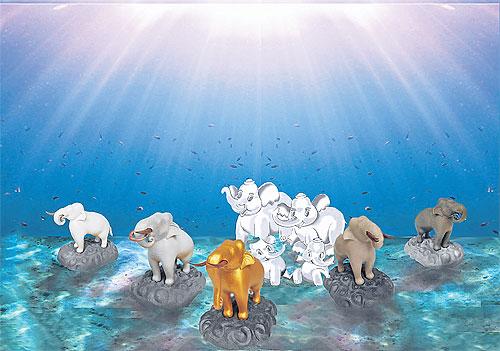koh mak underwater elephants
