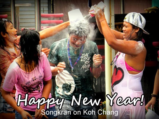 Songkran on Koh Chang