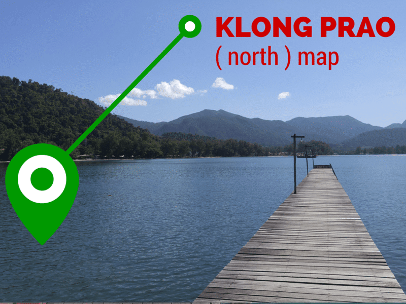 map of north klong prao beach koh chang