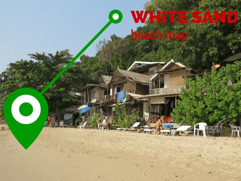 White Sand Beach Map