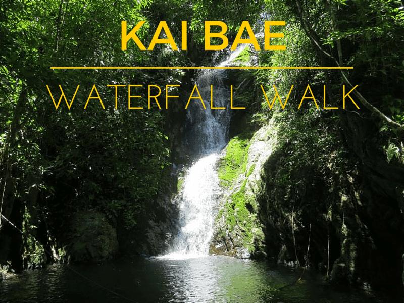 Walking to Kai Bae waterfall Koh Chang.