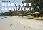 How to get to Soneva Kiri's private beach