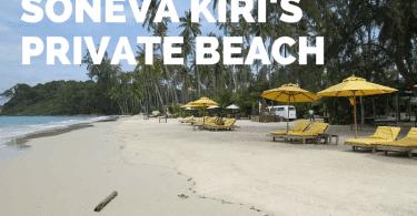 How to get to Soneva Kiri's private beach