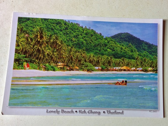 Lonely Beach Postcard