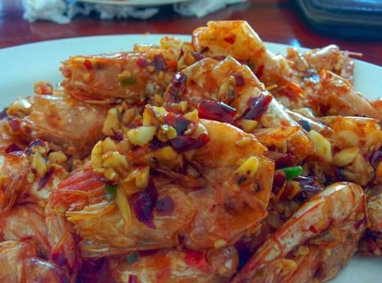 Prawns at Jae Eiw Restaurant