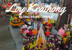 Loy Krathong festival on koh Chang