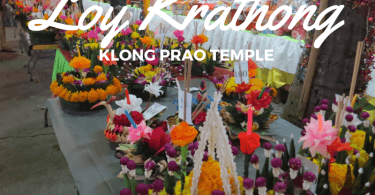 Loy Krathong festival on koh Chang