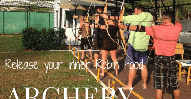 Learn archery with recurve bows at KC Archery, Klong Prao
