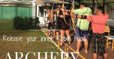 Learn archery with recurve bows at KC Archery, Klong Prao