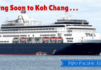The Pacific Eden, the first cruise ship to call at Koh Chang, Thailand