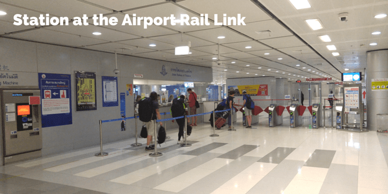 Suvarnabhumi Airport rail link station and ticket office