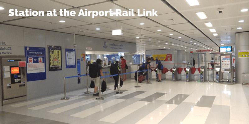 Suvarnabhumi Airport rail link station and ticket office