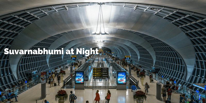 Inside the terminal at night