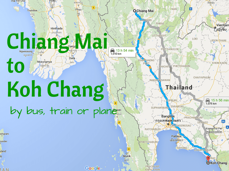 How to Get from Chiang Mai to Koh Chang Chiang Mai Map on