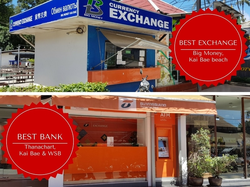 Best bank and currency exchanges on Koh Chang