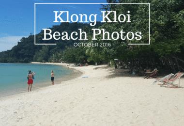 Photogrpahs of Klong Kloi beach, bangbao, Koh Chang. Taken in 2016