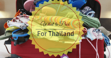 WHat should you pack for a holiday in Thailand?
