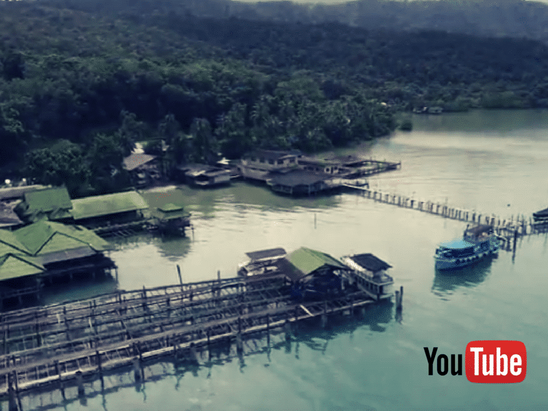 Aerial video of Koh Chang and Mercure Hideaway in the rainy season