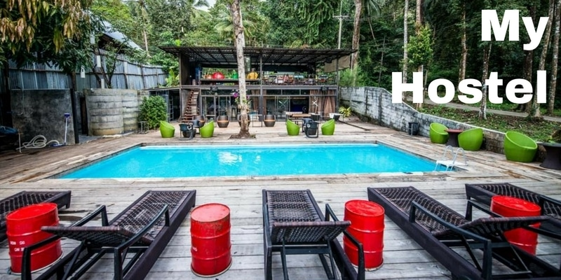 My hostel, lonely beach budget accommodation