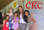 Volunteers at the Cambodian School on Koh Chang