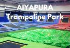 Inside the trampoline park at Aiyapura Resort, Koh Chang