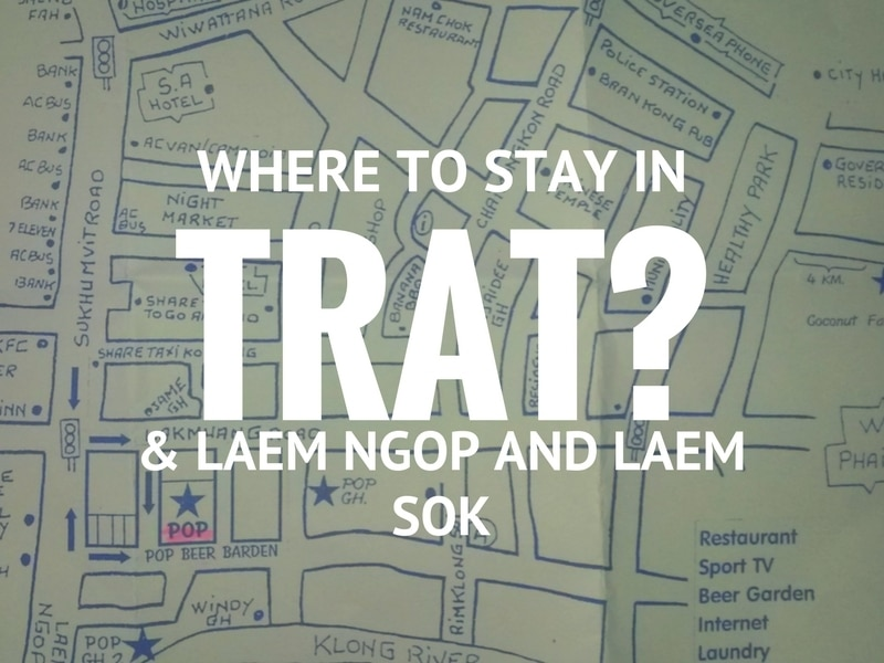 Map of hotels, guesthouses and resorts in Trat town