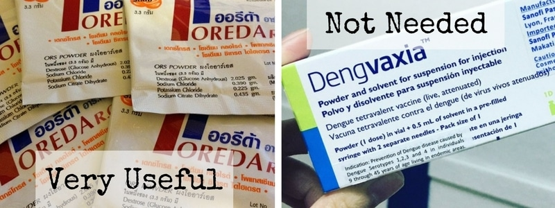 Oreda oral rehydration salts in Thailand