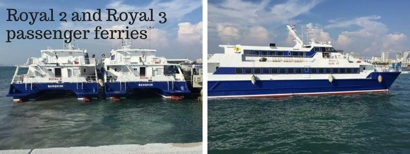 Two passenger ferries from Royal Passenger Liner Co, Pattaya