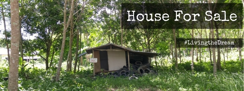 Rubber tapper's shack for sale on Koh Chang island.