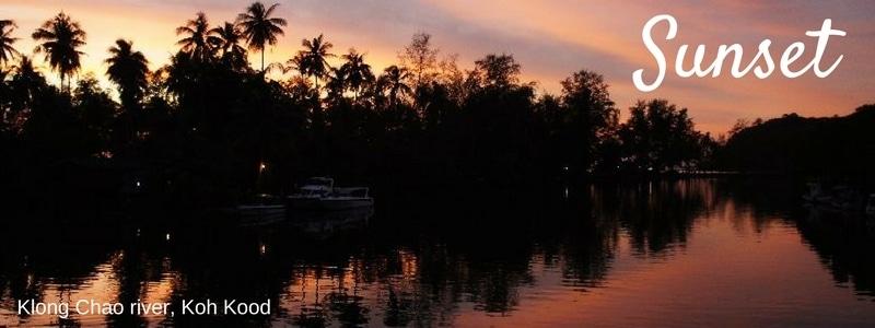 Sunset over Klong Chao river, Koh Kood