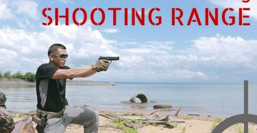Firing a pistol at Koh Chang shooting range