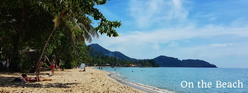 View along the beach at Siam Beach Resort