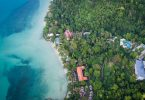 Aerial drone photo of Sea View Resort, Koh Chang
