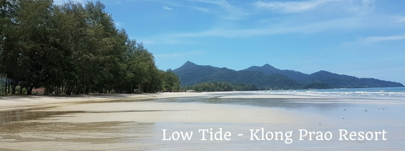 Low tide on Klong Prao beach