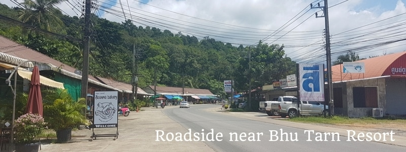 Main road in Klong Prao, Koh Chang
