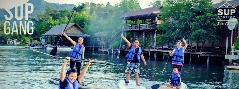 SUP (Standup paddling) on the river on Koh Chang