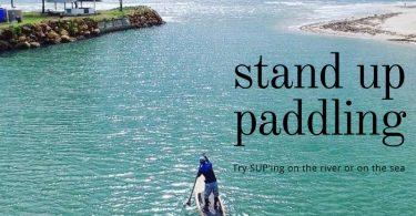 Stand up paddling on Klong Prao beach, Koh Chang