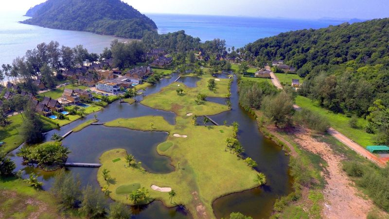 Aerial View of Koh Chang Disc Golf Course