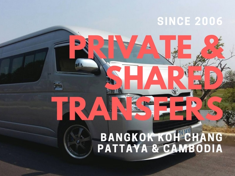 Private and shared transfer service from Bangkok to Koh Chang